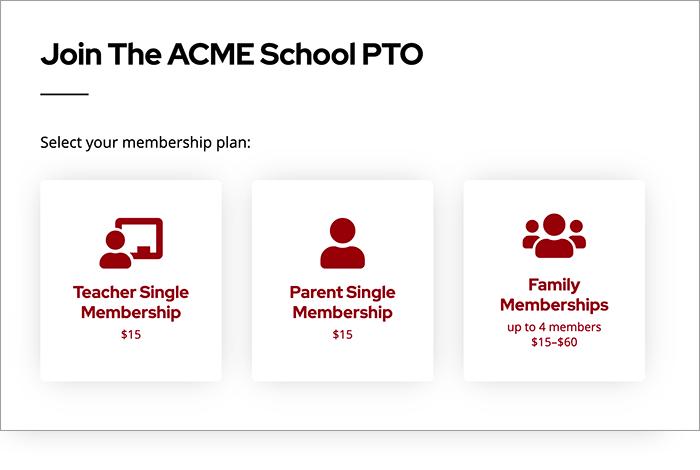 Screenshot of PTO website online payment forms